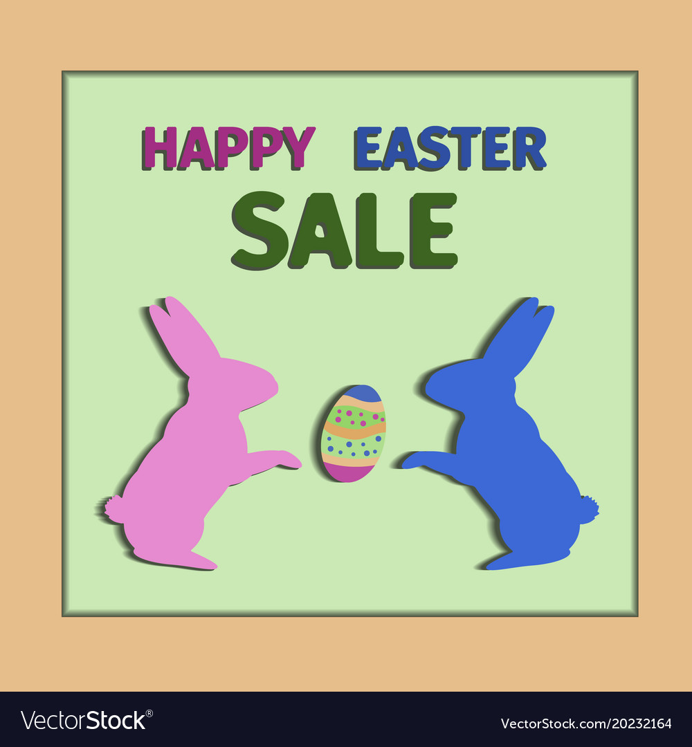 Happy easter day sale card