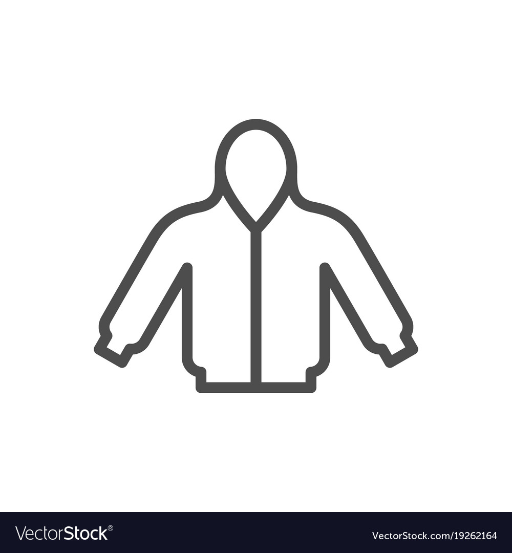 Hoodie line icon