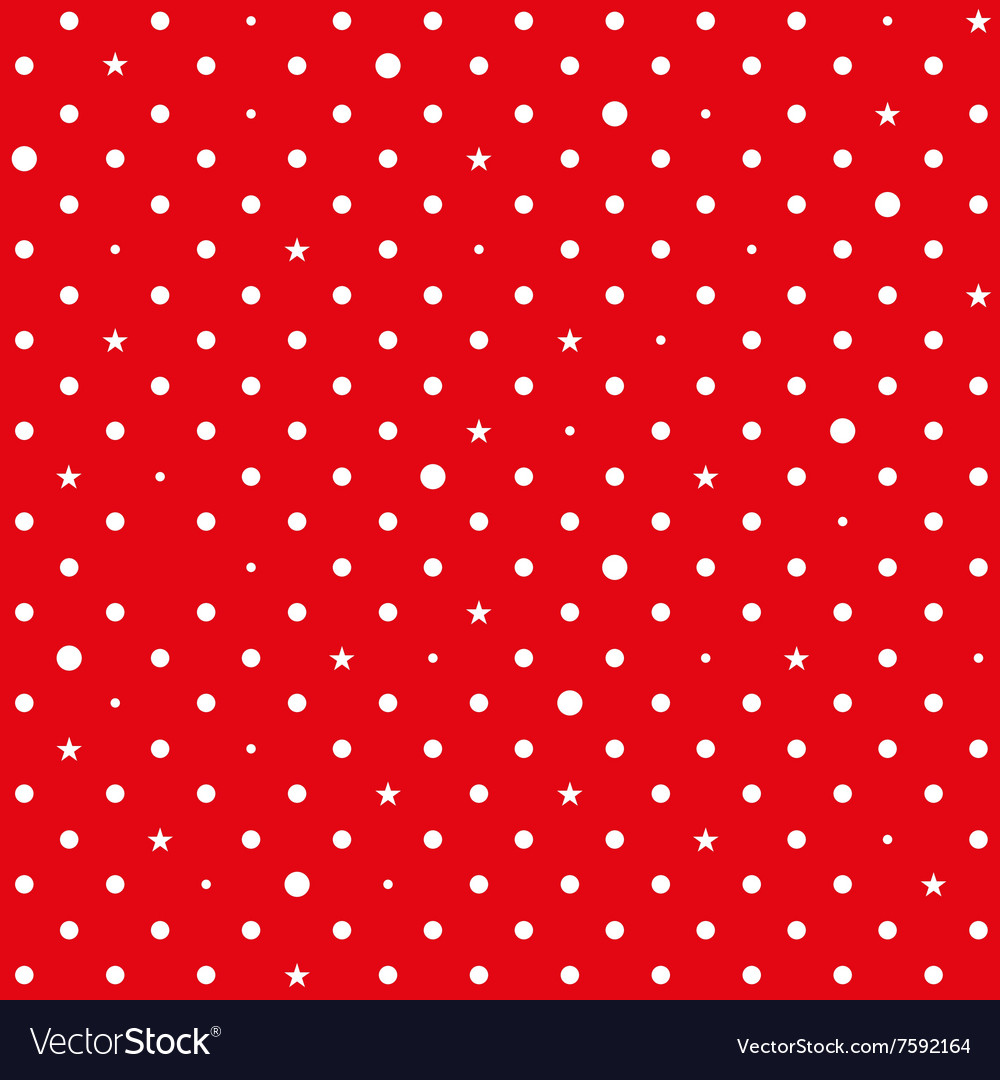 Red White Star Polka Dots Background