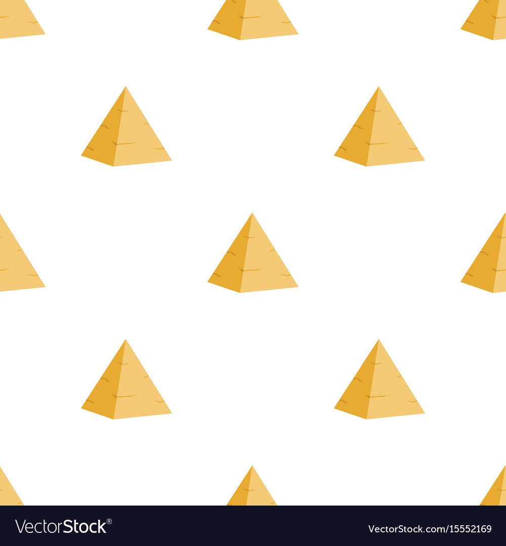 Ancient egyptian pyramid seamless pattern