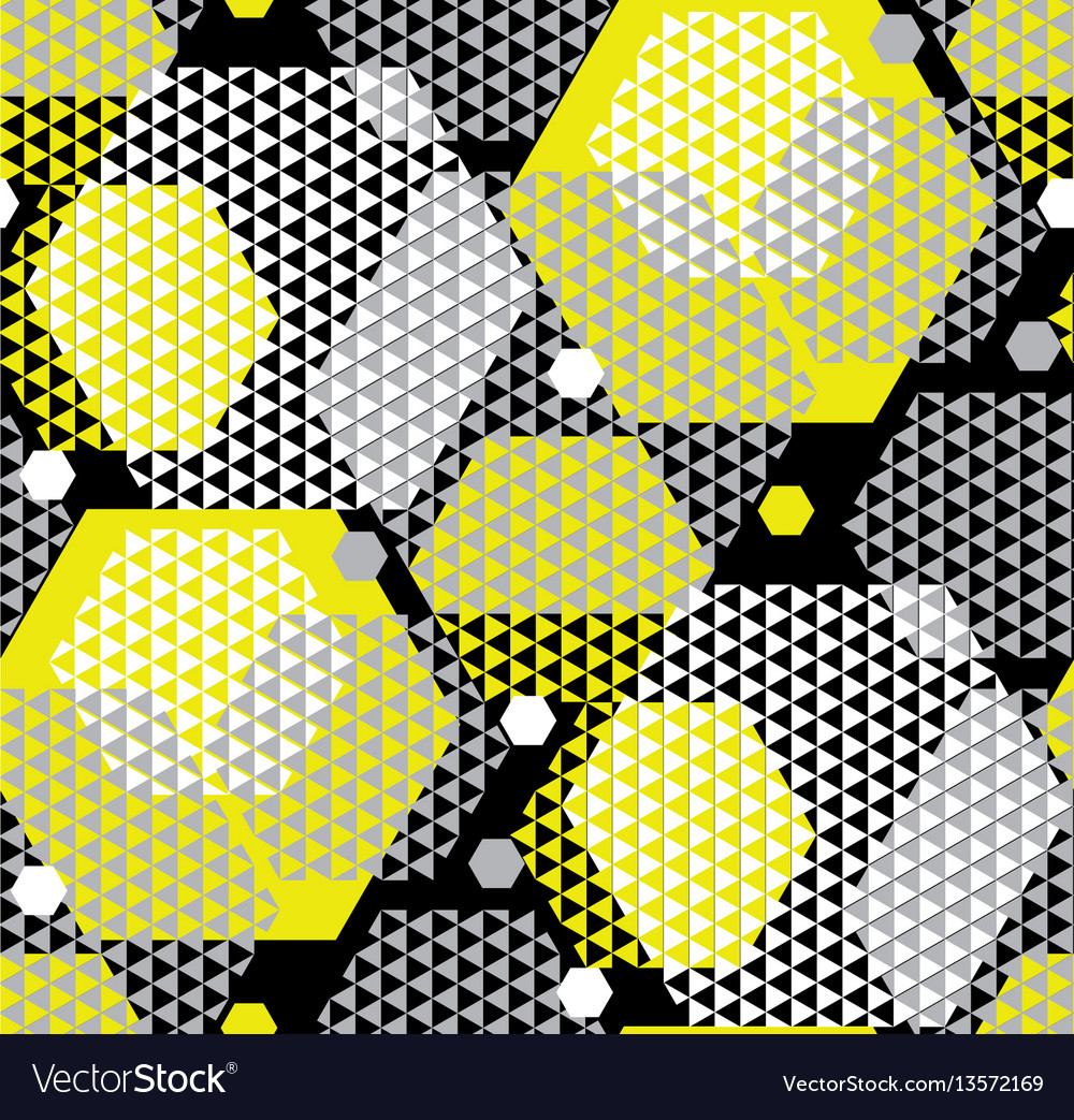 Concept modern geometry pattern with yellow and