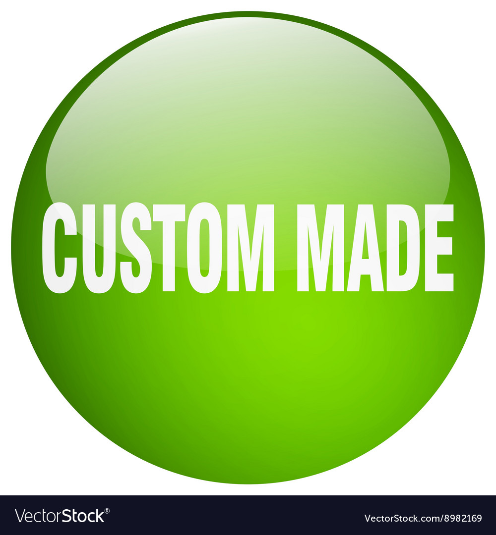 Custom made green round gel isolated push button