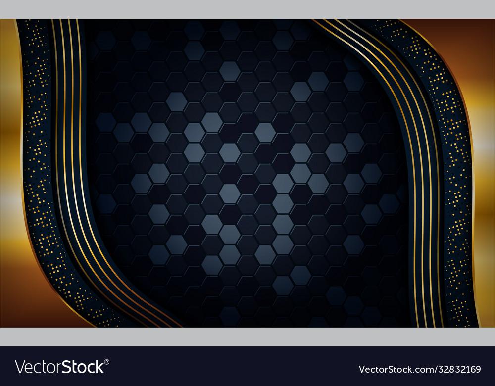 Luxury dark background with golden lines