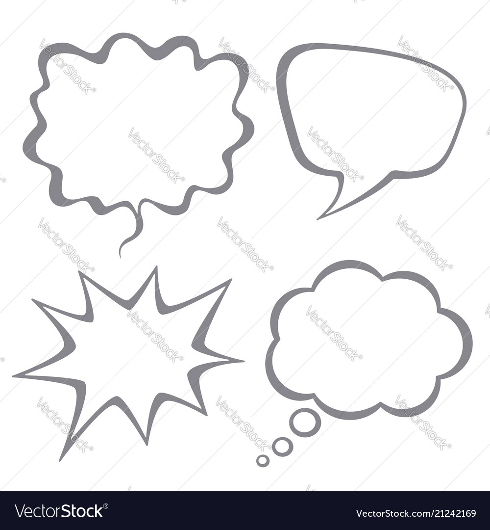 Set of speech bubbles isolated on white back