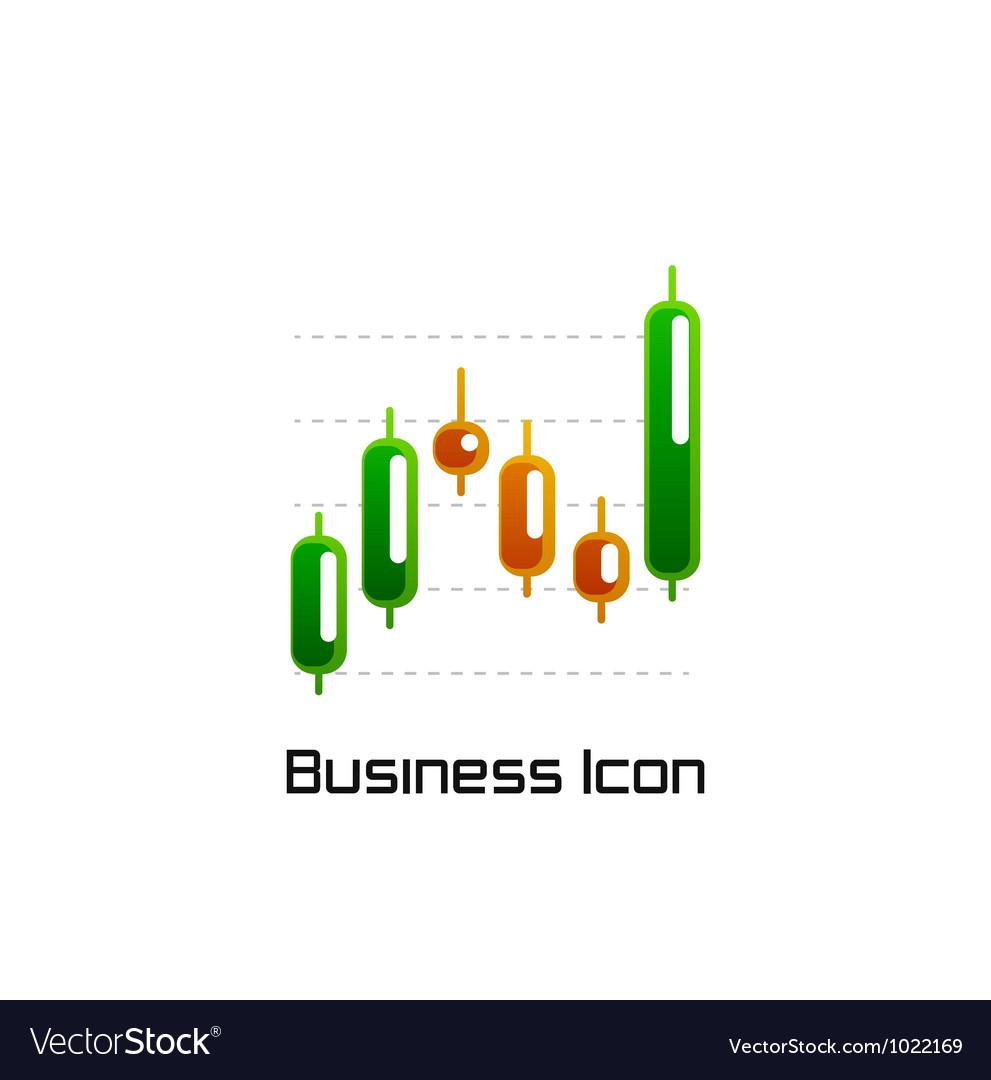 Stock chart icon vector image