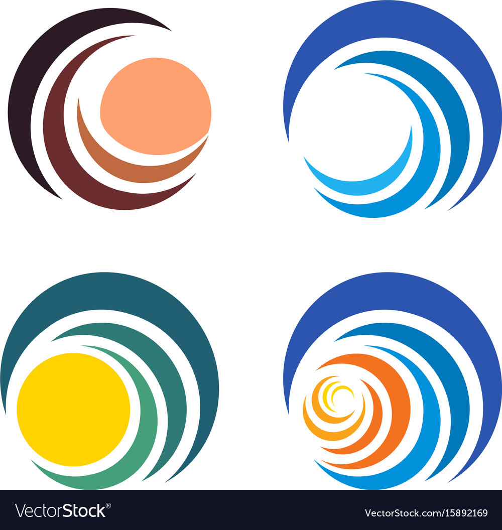 wave and sun sunset and sunrise logos isolated vector image rh vectorstock com logo vectors free download logo vector images