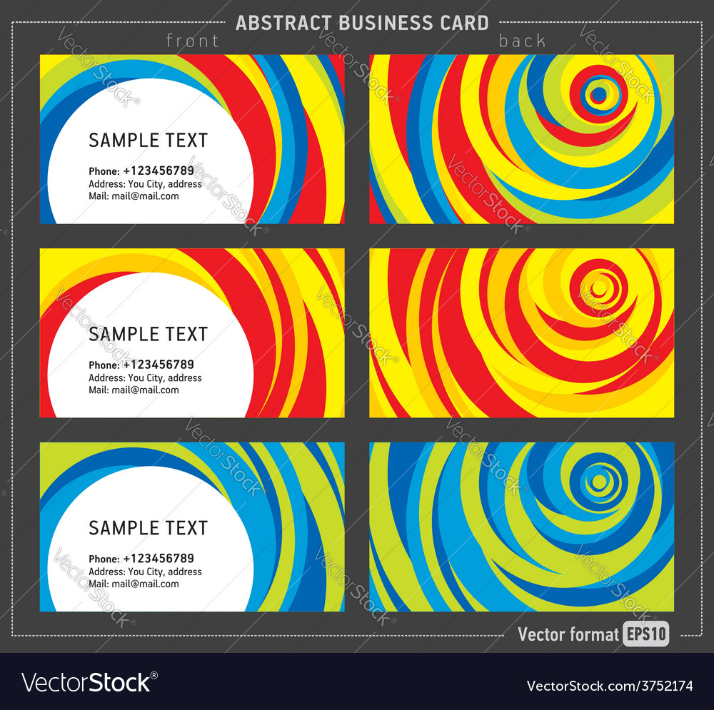 Abstract creative line business card template