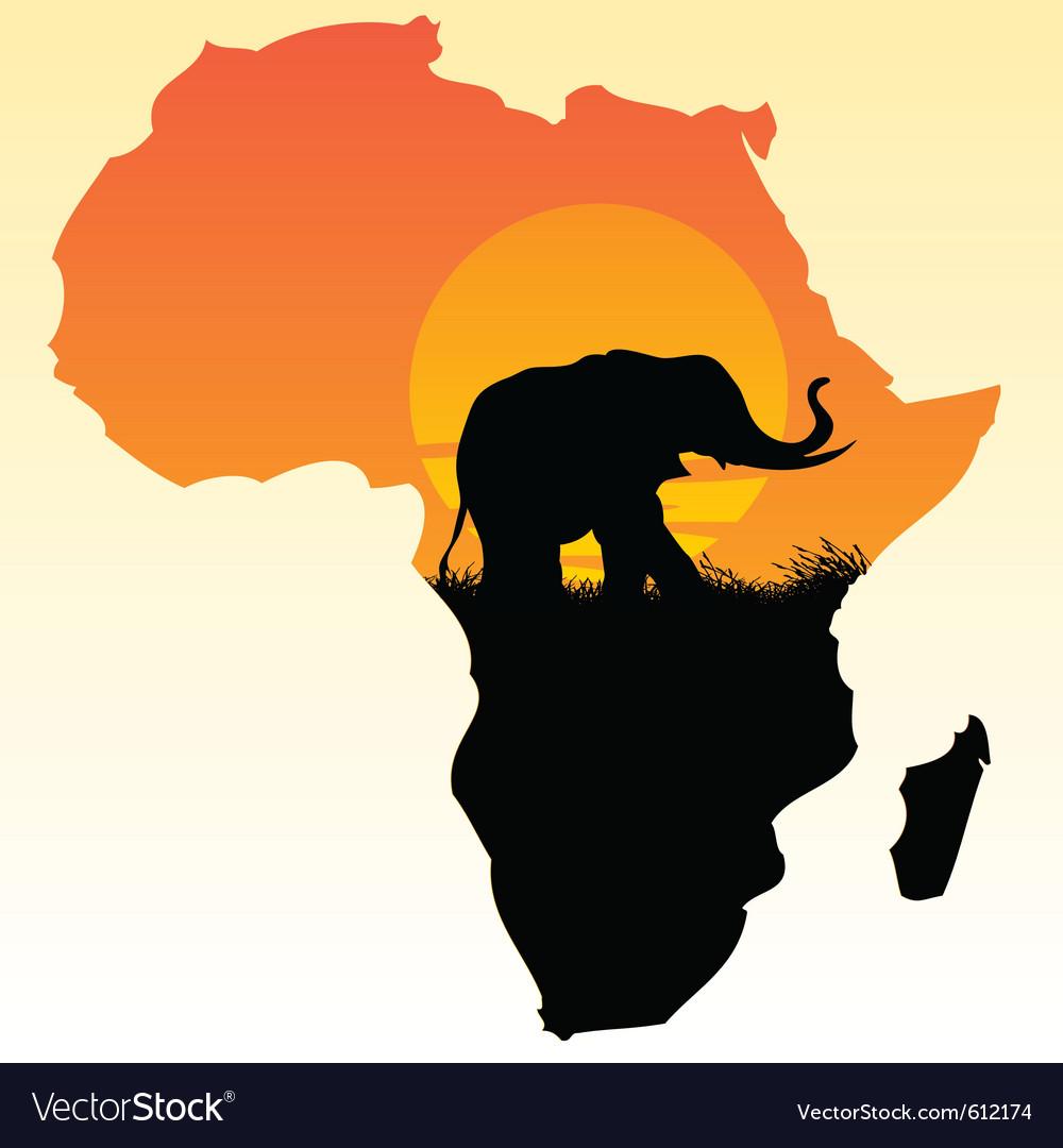 africa royalty free vector image vectorstock rh vectorstock com africa victoria falls map african victoria secret model