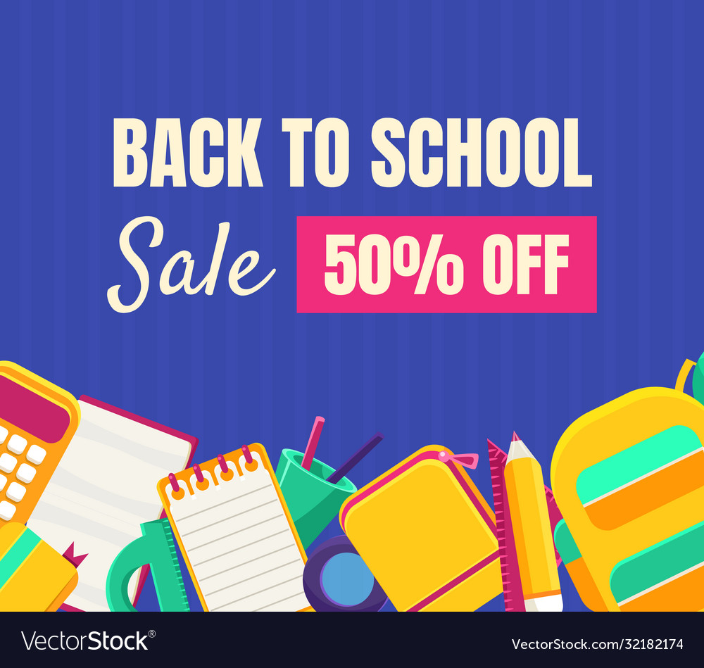 Back to school sale banner template