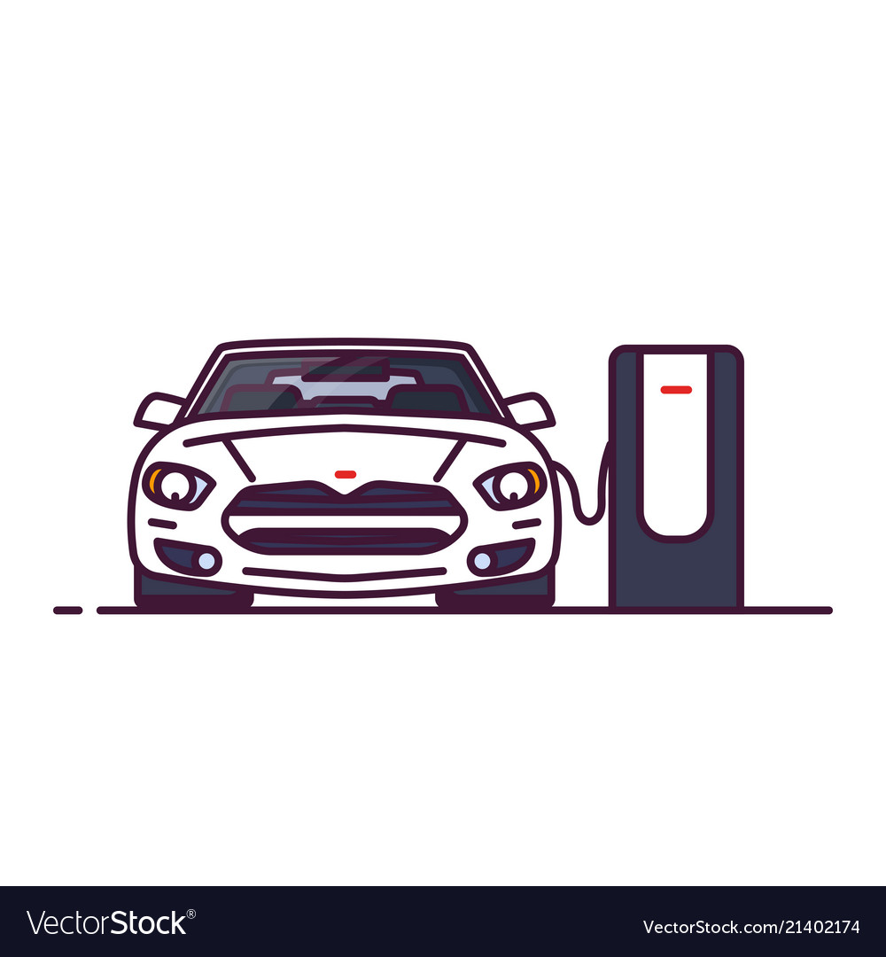 Car on electro station