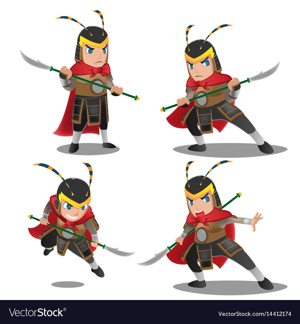 China armor warrior character set
