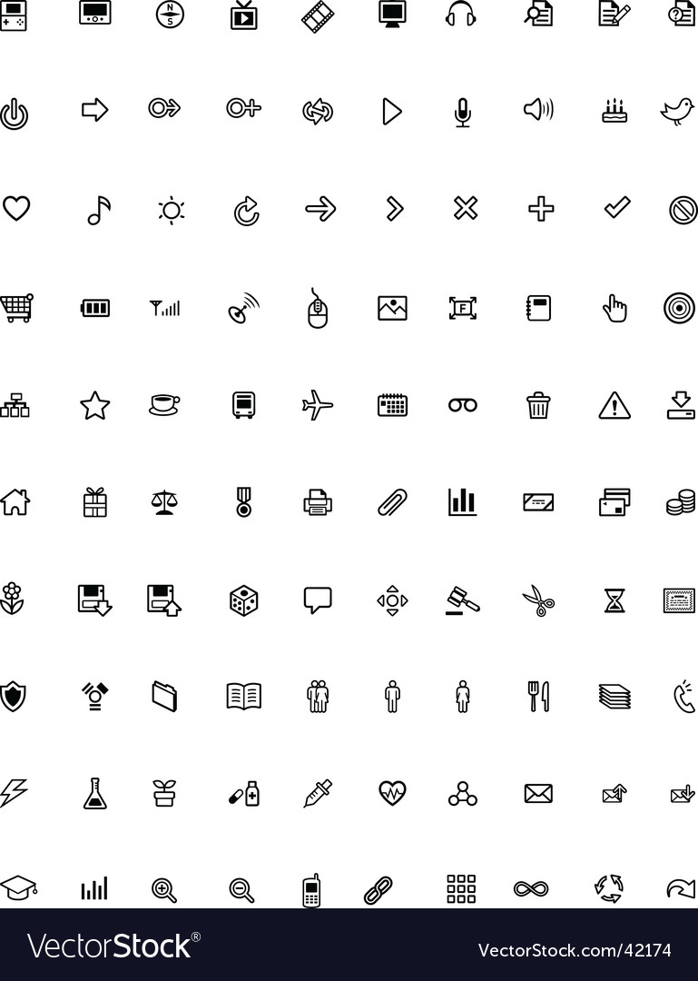 General purpose icons
