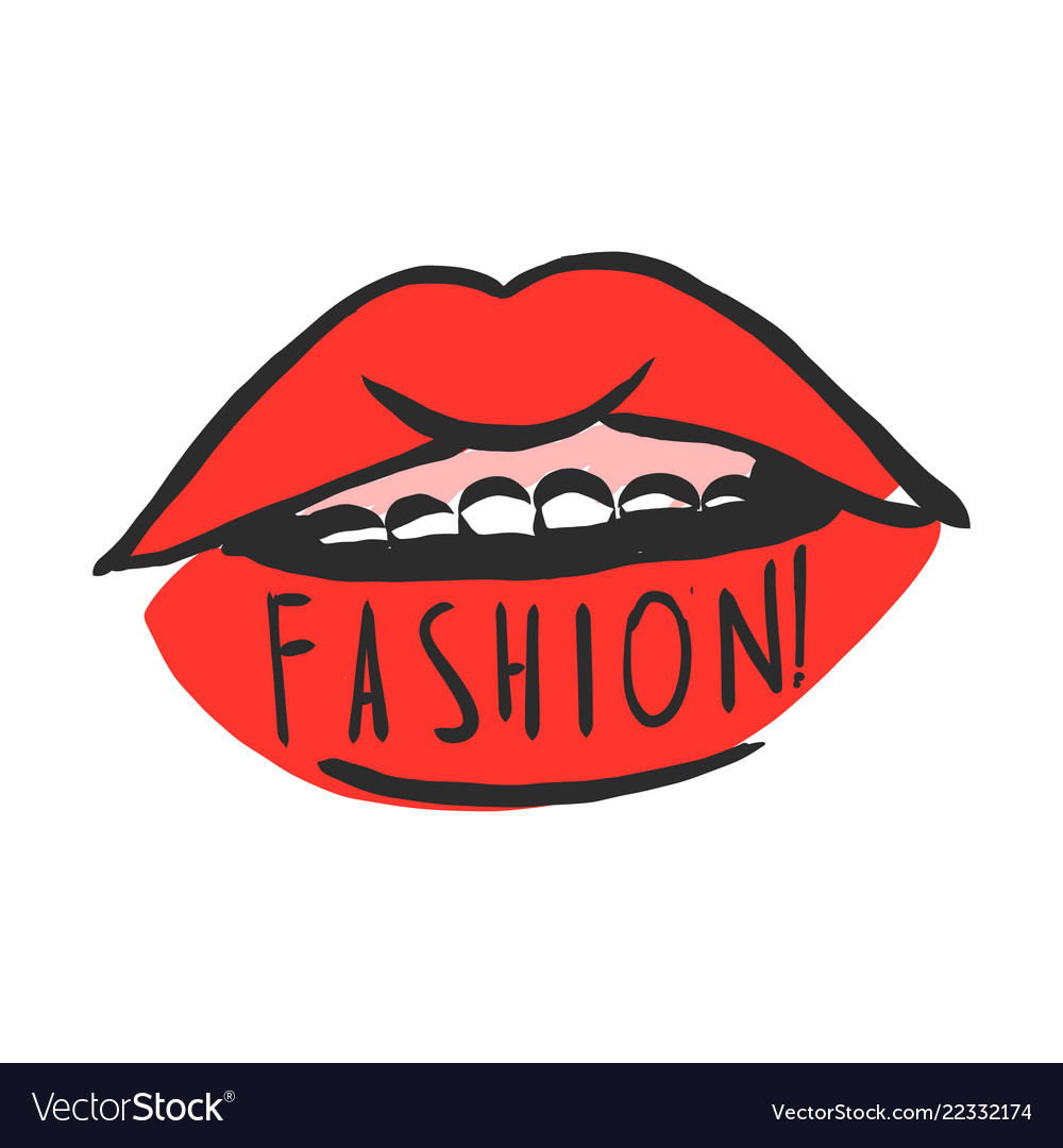 Minimalism makeup and fashion concept sexy lips