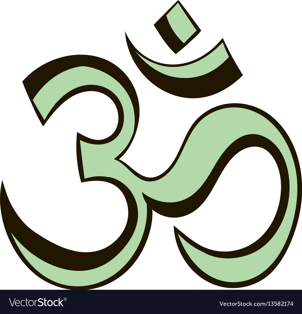 Om sign icon cartoon