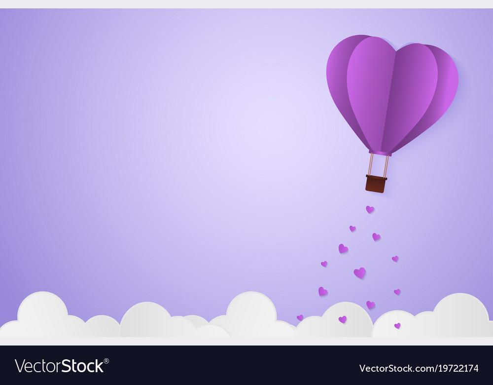 Paper style love of valentine day violet pantone