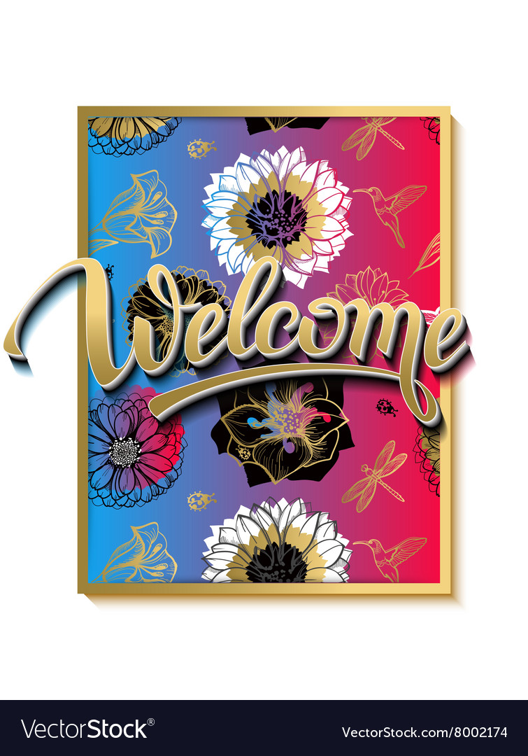 Welcome spring poster advertising of spring