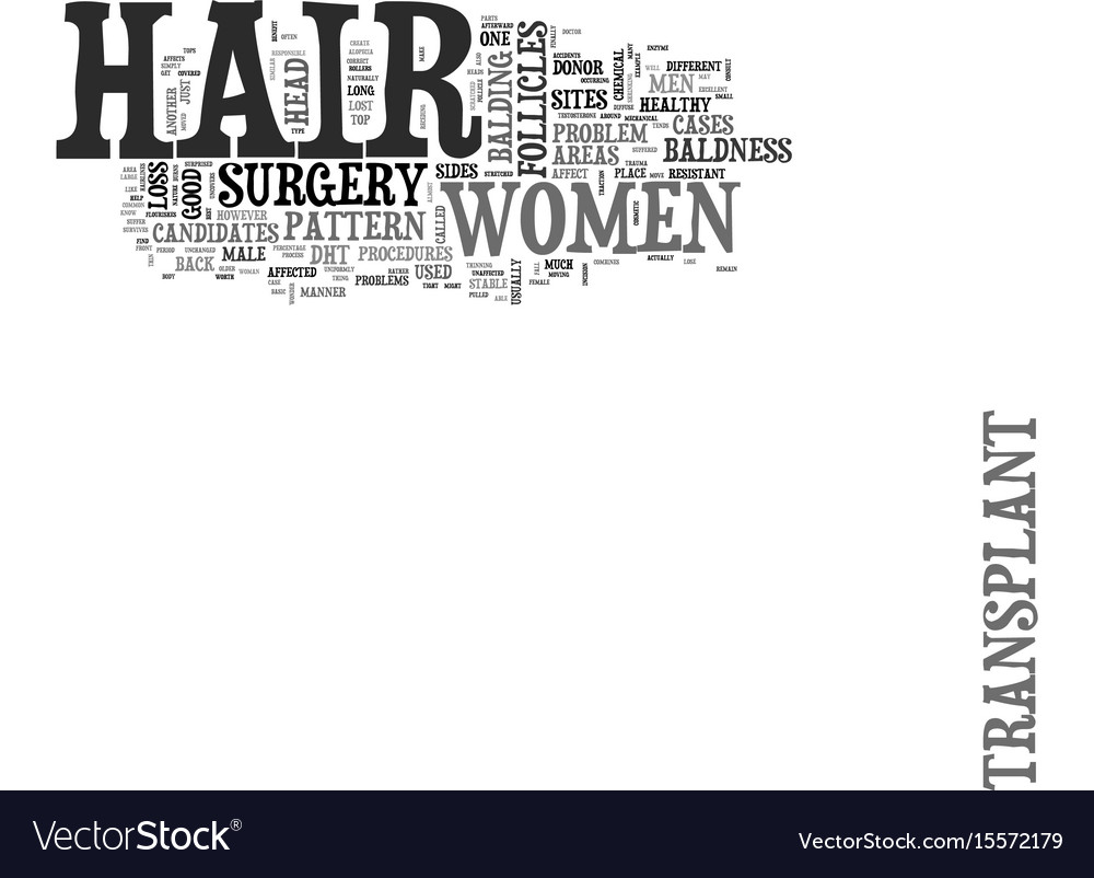 Are women good candidates for hair transplant