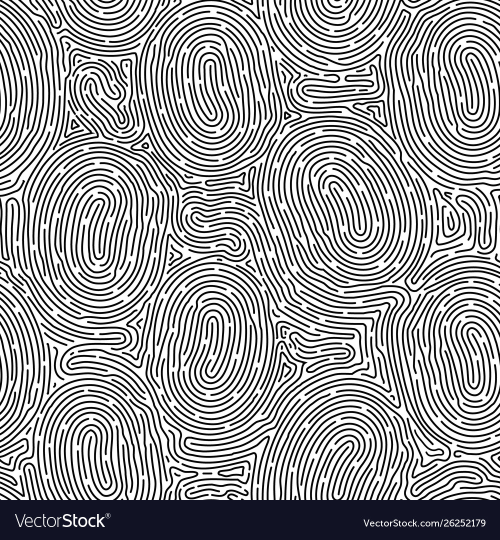 Monochrome doodle abstract seamless background
