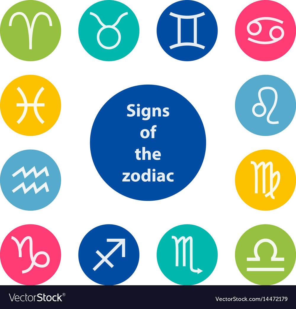 Signs of the zodiac vector image