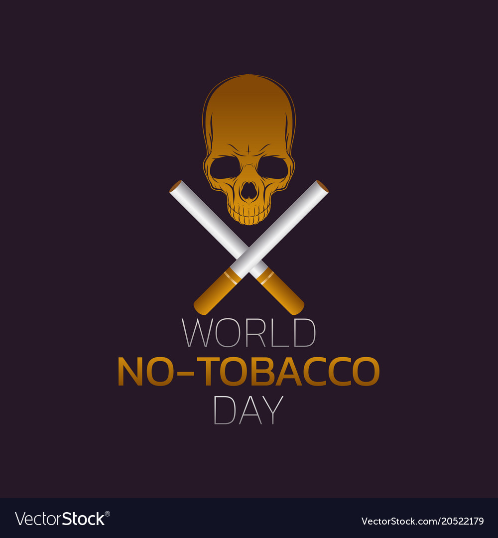 World no-tobacco day icon design