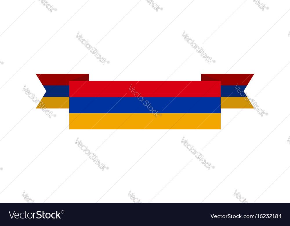Armenia flag ribbon isolated armenian tape banner