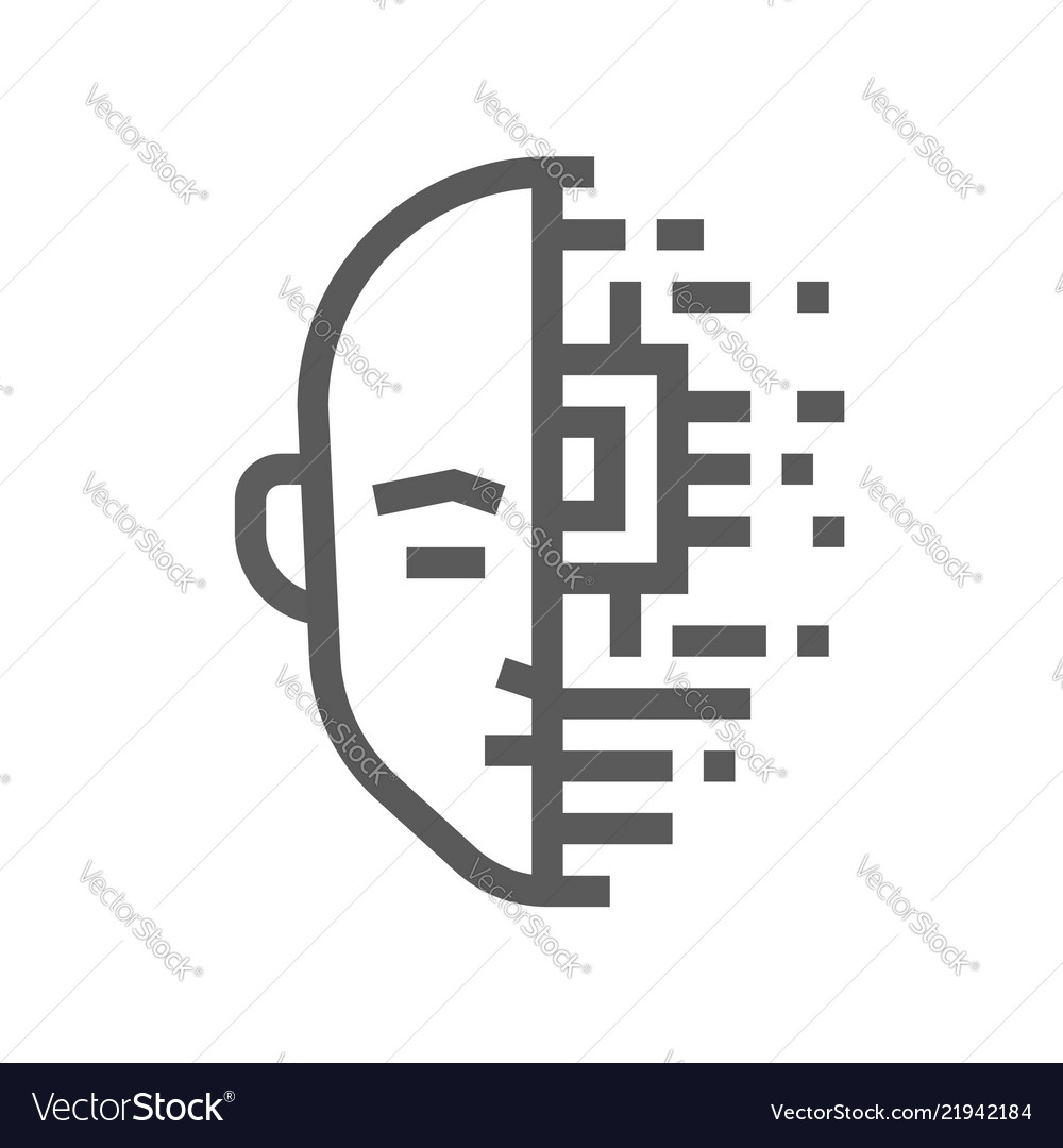 Artificial intelligence line icon