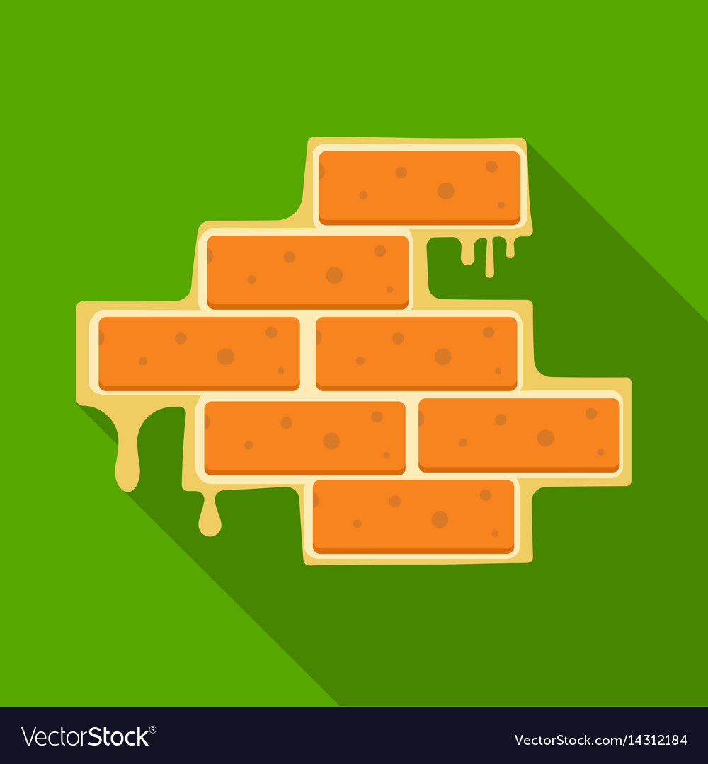 Brick wall icon in flate style isolated on white vector image