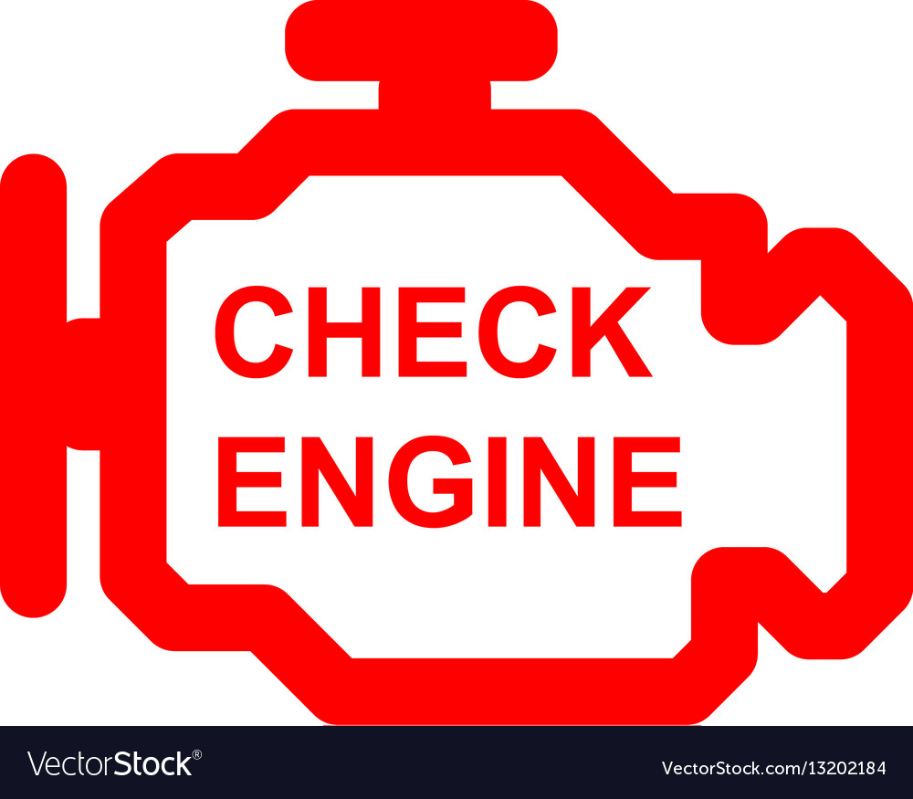 Check Engine Car Symbol Royalty Free Vector Image