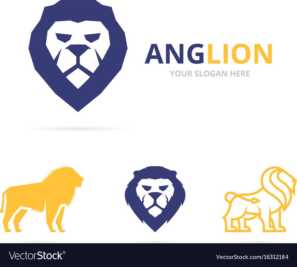 Lion logo or symbol design template