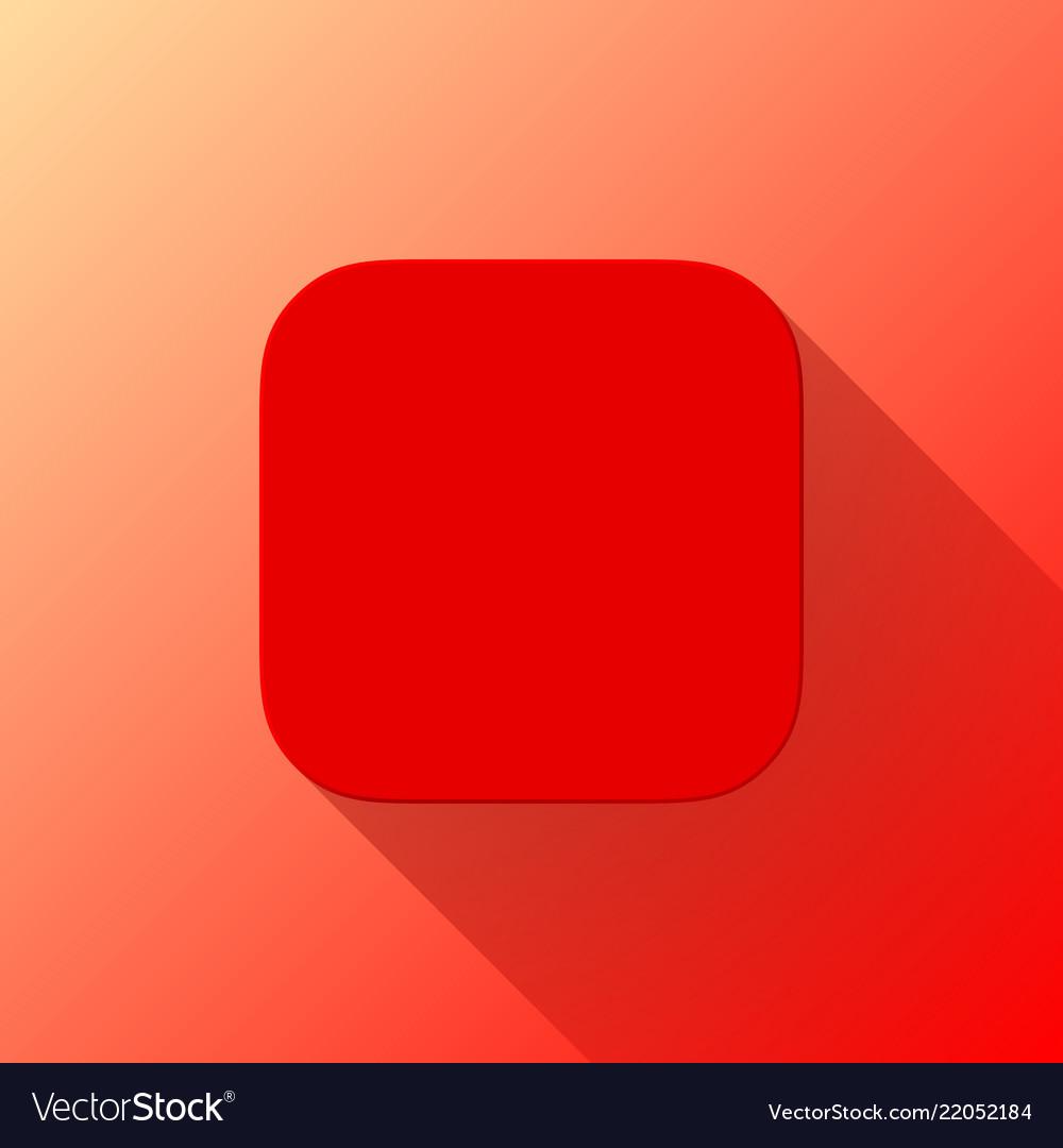 Red blabk app icon template flat design