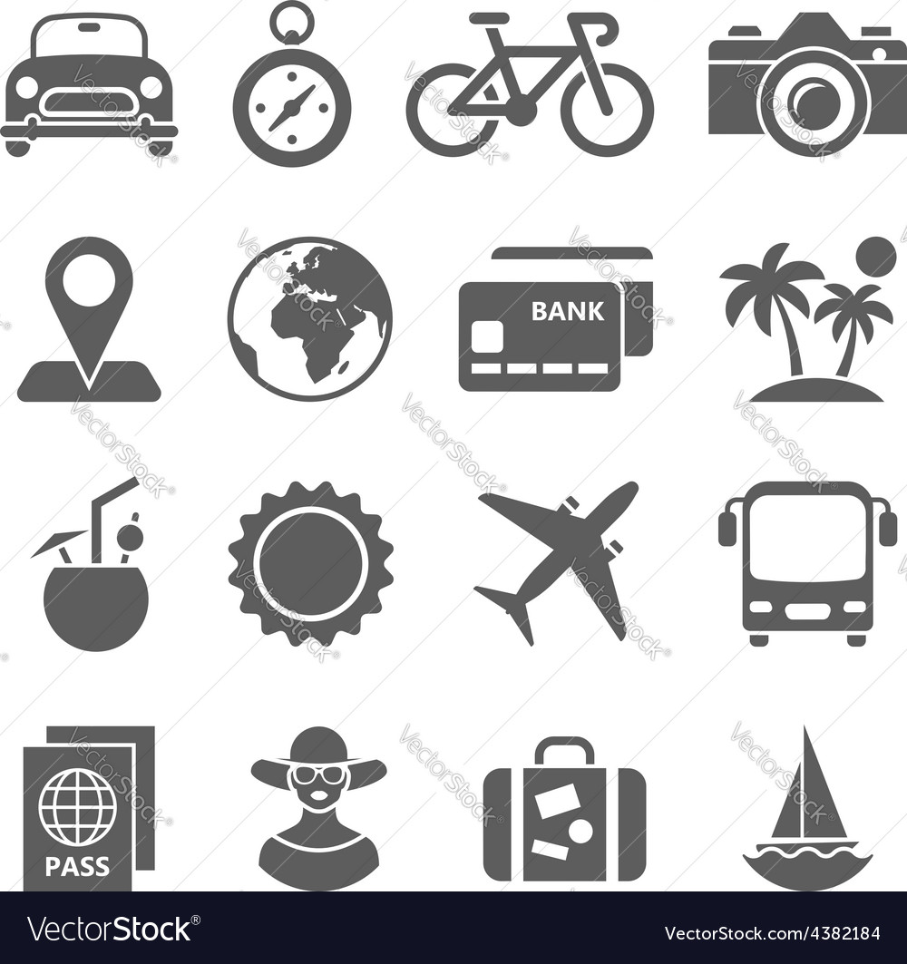 Traveling and transport icons for Web Mobile App