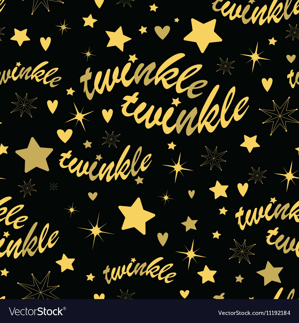 Twinkle stars seamless pattern Royalty Free Vector Image