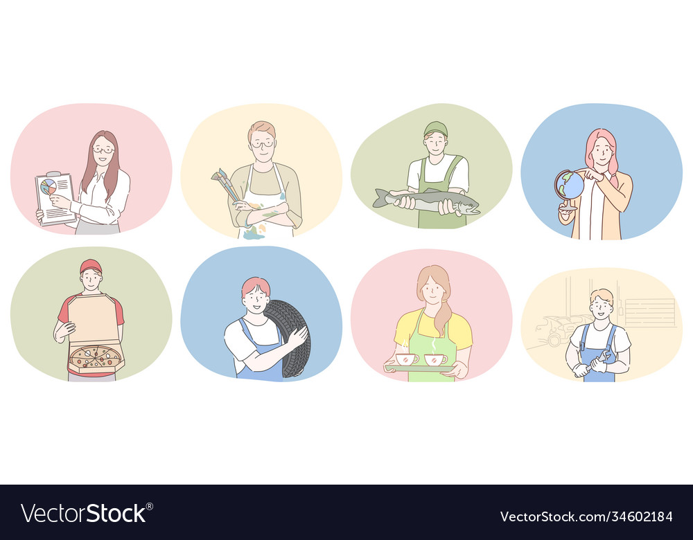 Various professions and occupation concept