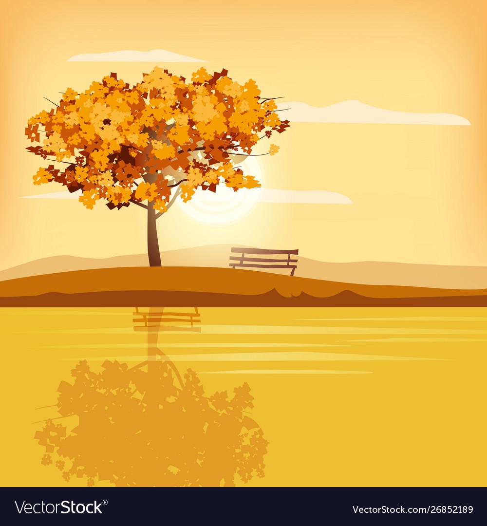Autumn Landscape Tree Rural Scenery Outdoor Yellow
