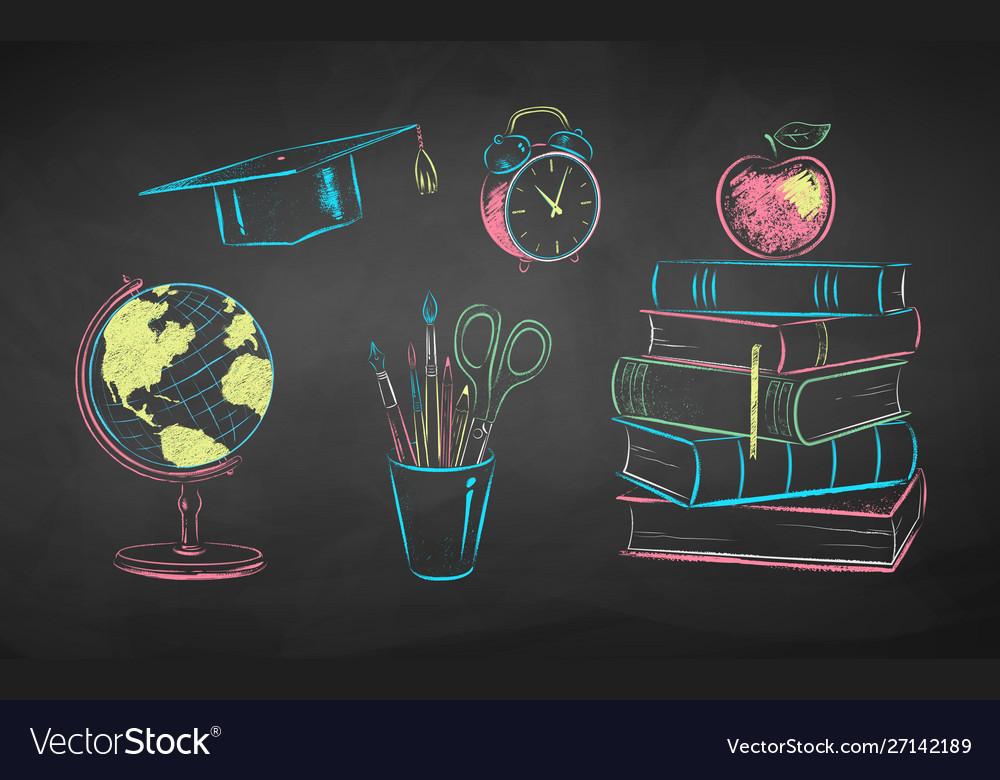 Chalk education items