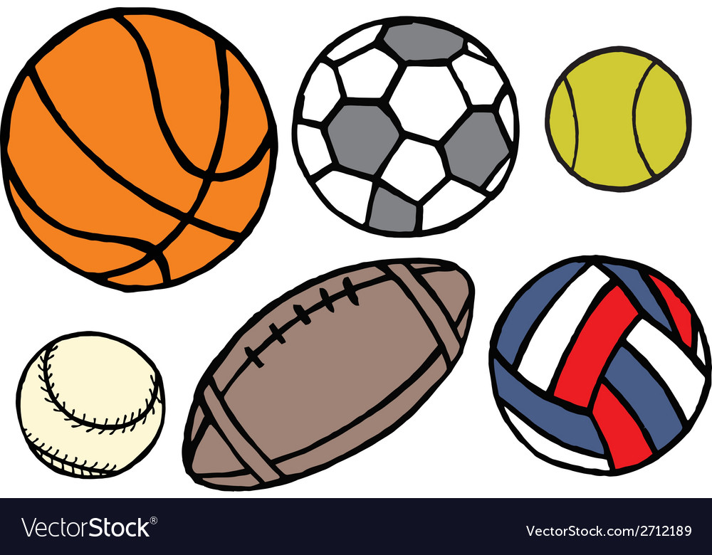 Set Of Different Sport Balls Royalty Free Vector Image