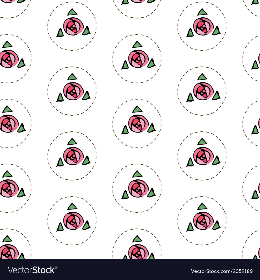 White seamless pattern with roses