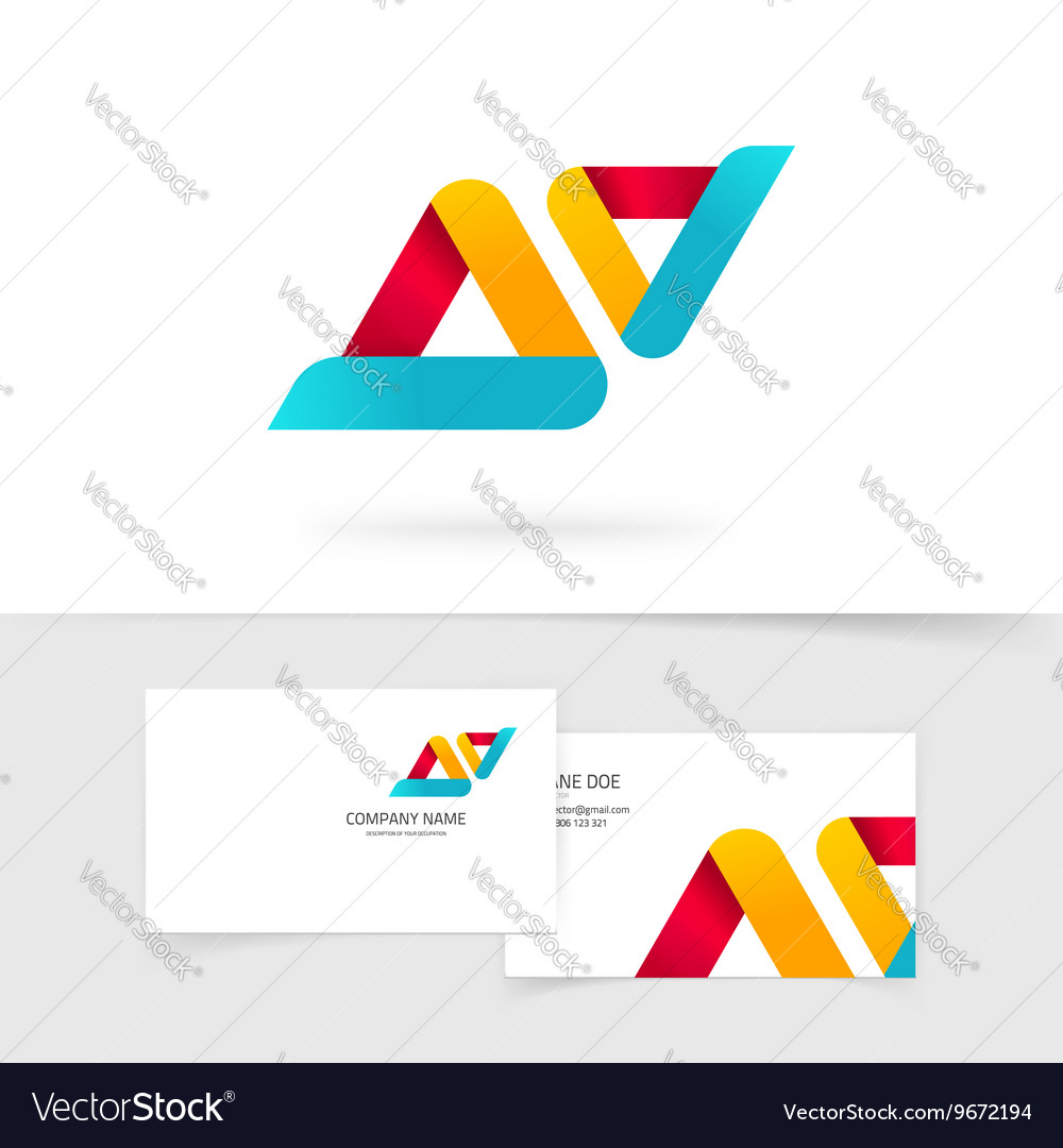 Abstract logo isolated two rounded