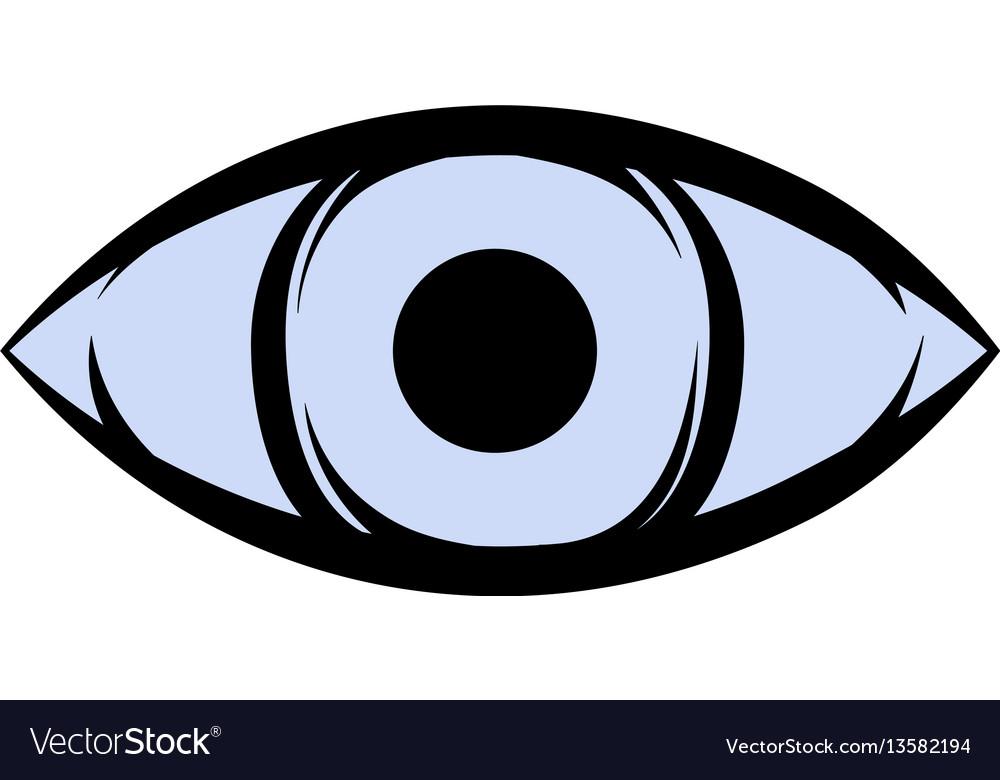 All-seeing eye icon cartoon