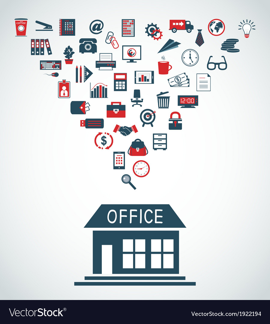 Business office building concept vector image
