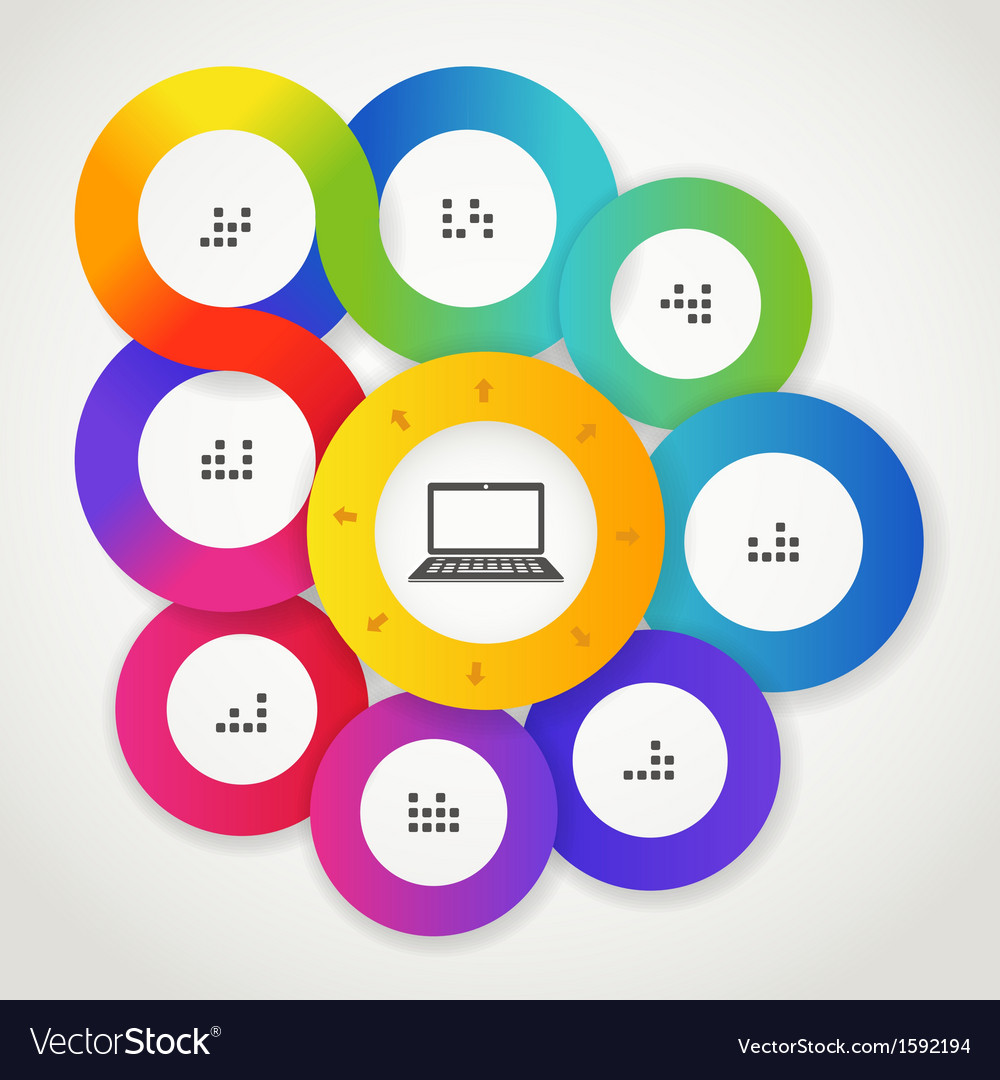 Color circle web interface template