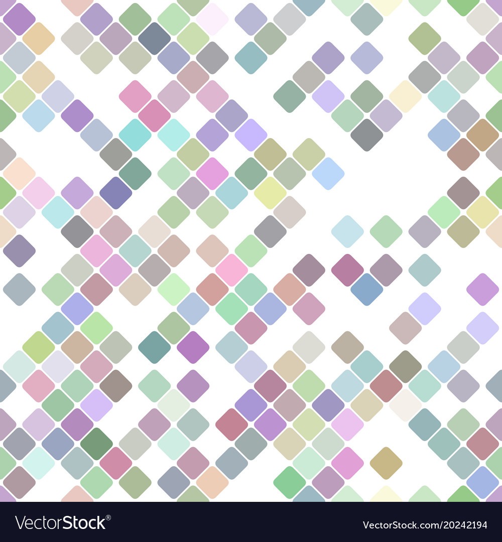Colorful repeating diagonal square pattern