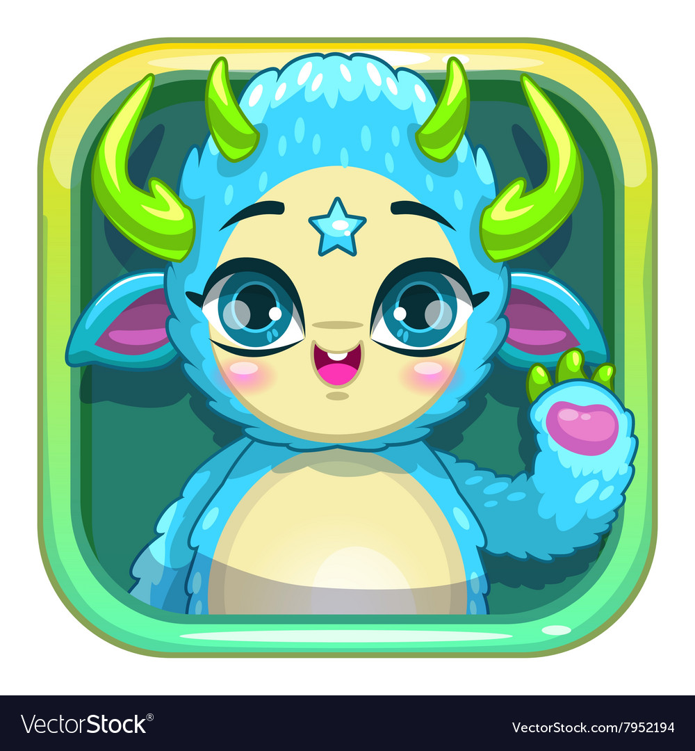 Funny cool app store game icon