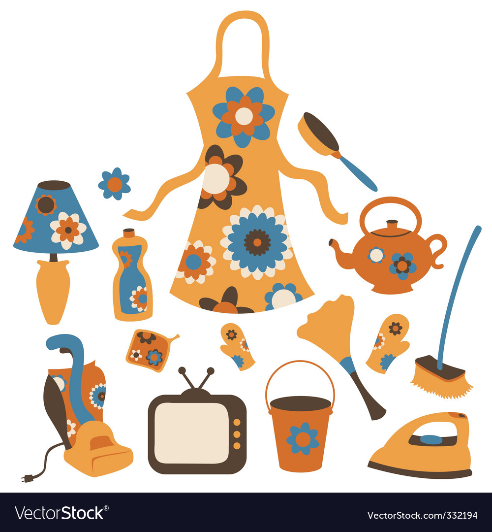 Housewife accessories icons