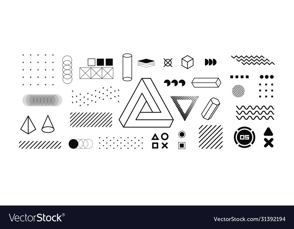 Modern geometric shapes collection