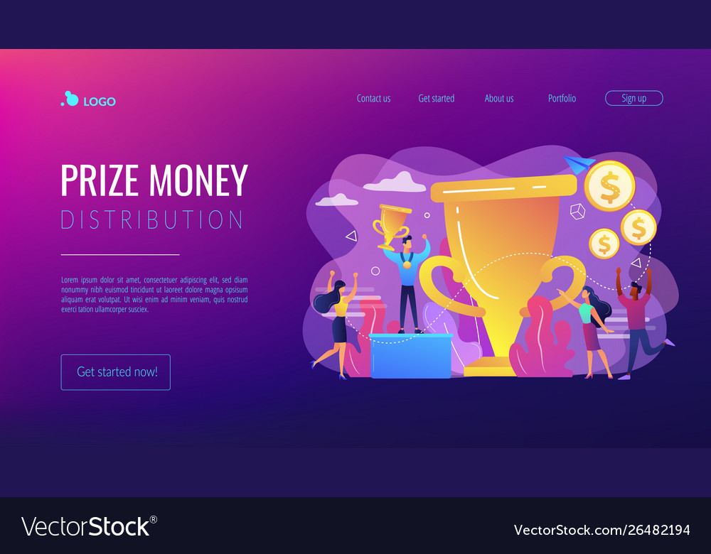 Prize pool concept landing page