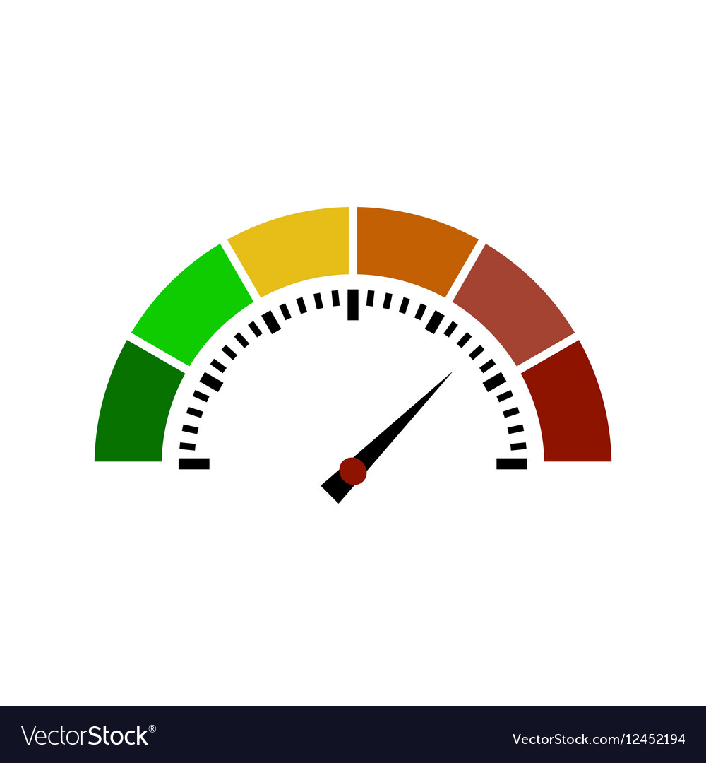 Speedometer or rating meter signs infographic