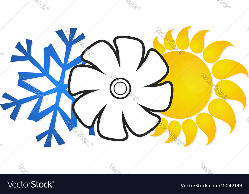 Air conditioning and ventilation vector image