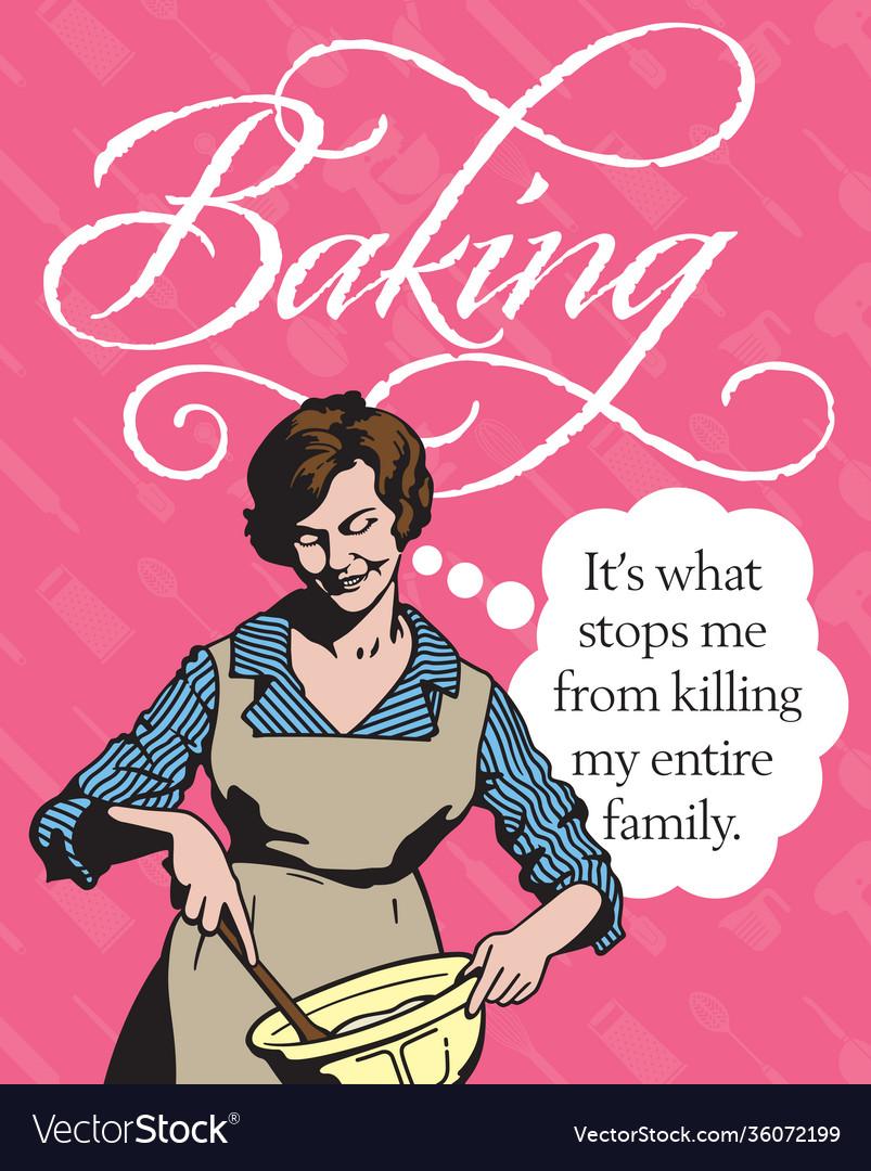 Baking vintage style badge or emblem