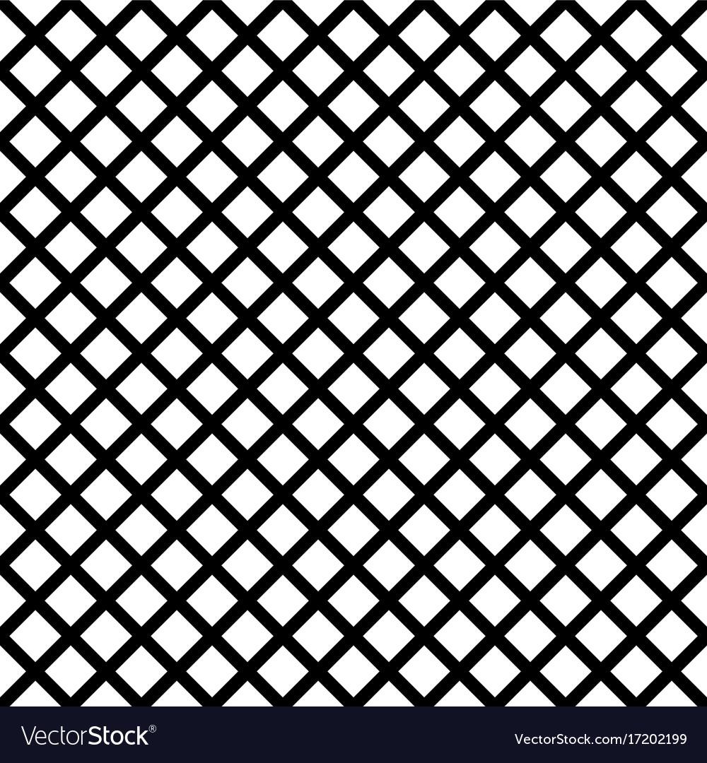 Chain-link geometric black on white seamless